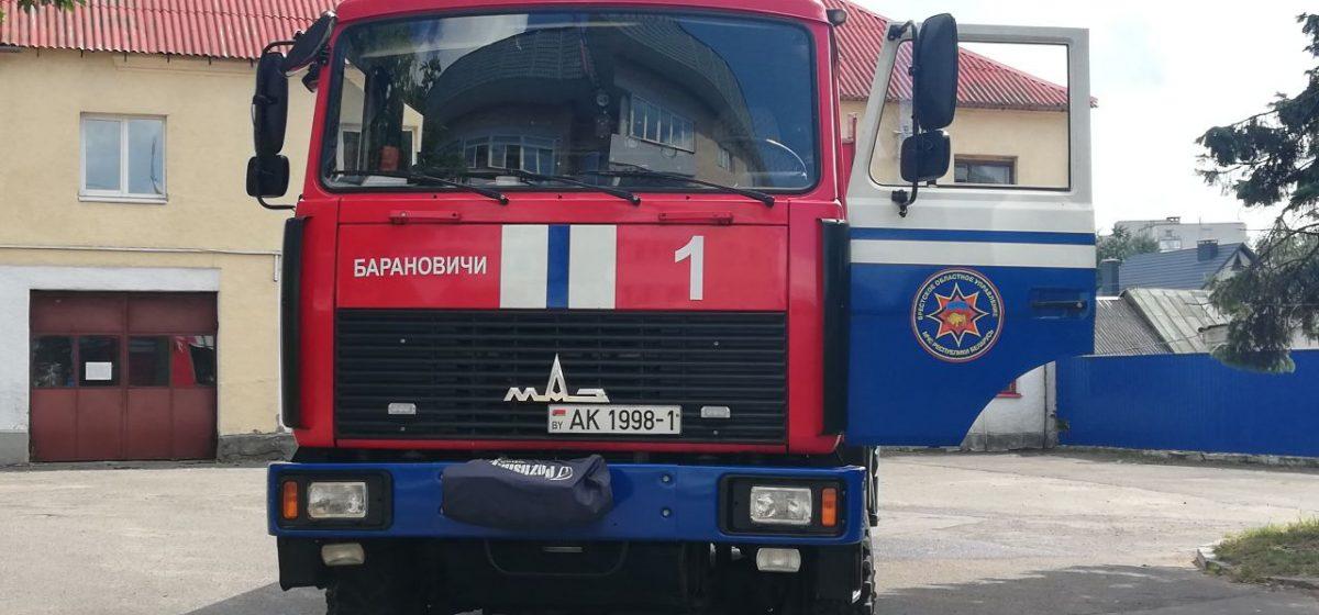 Хозпостройка горела в Барановичском районе