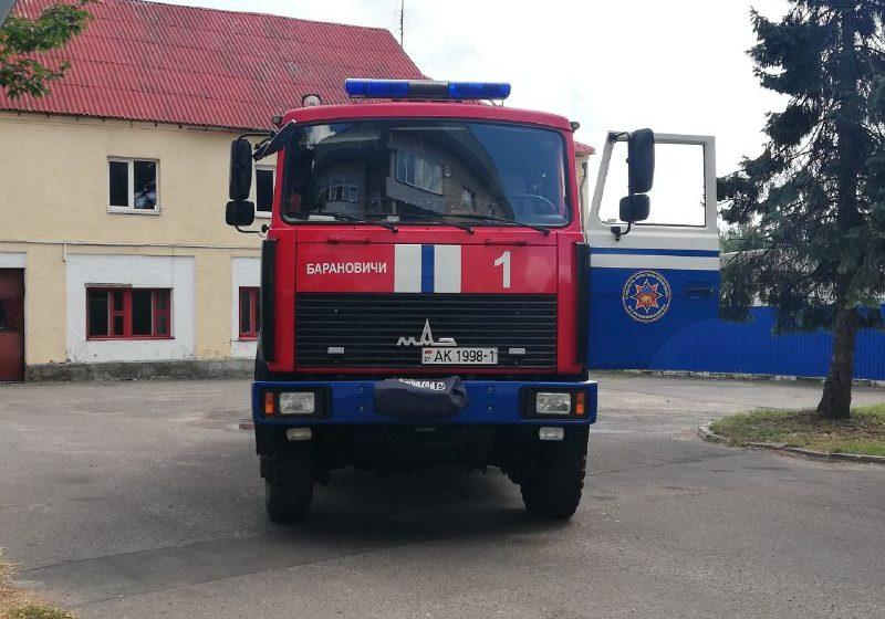 Квартира горела в двухэтажном доме в Барановичах