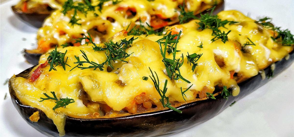 Вкусно и просто. Баклажаны с фаршем и помидорами, запечённые в духовке
