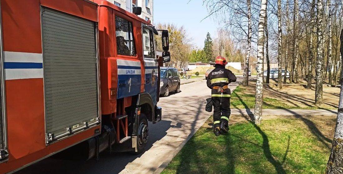 Дом горел в Барановичах