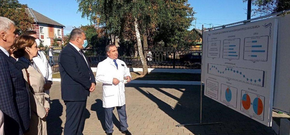 Вдвое увеличено количество кислородных точек в Барановичской городской больнице