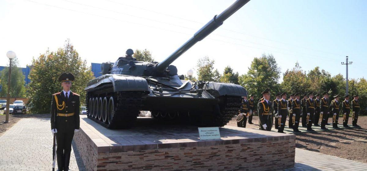 Памятник танку установили в Новогрудке. На открытии были Караев и Караник