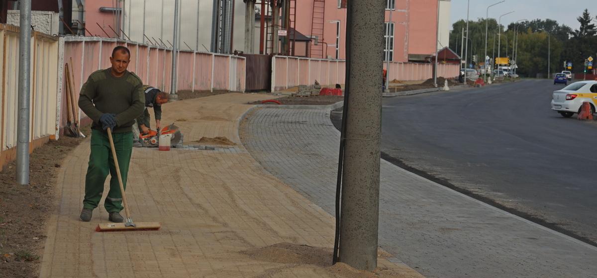 Как проходит ремонт улицы Фроленкова в Барановичах. Фотофакт