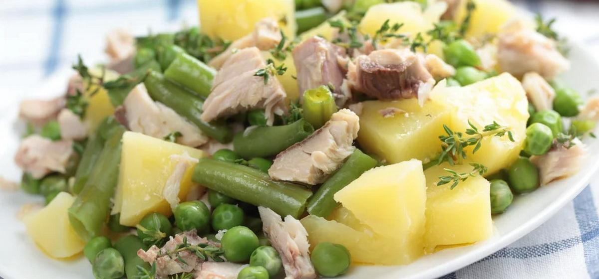 Вкусно и просто. Салат из картофеля с тунцом