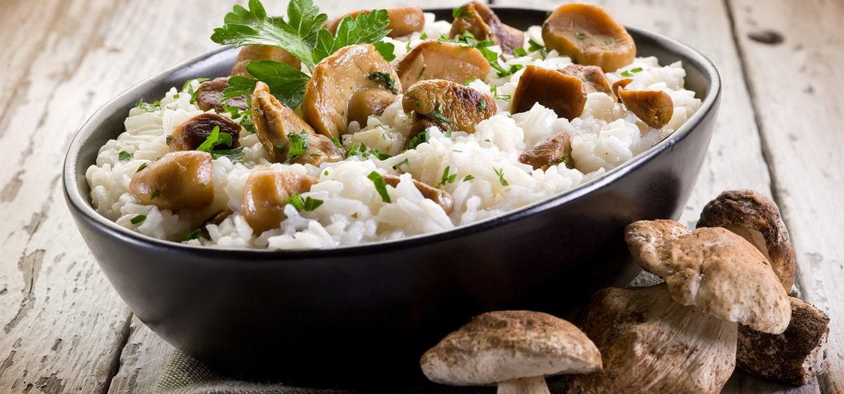 Вкусно и просто. Ризотто с белыми грибами