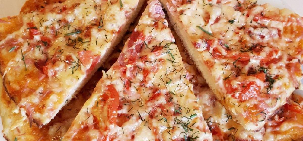 Вкусно и просто. Пицца домашняя с колбасой