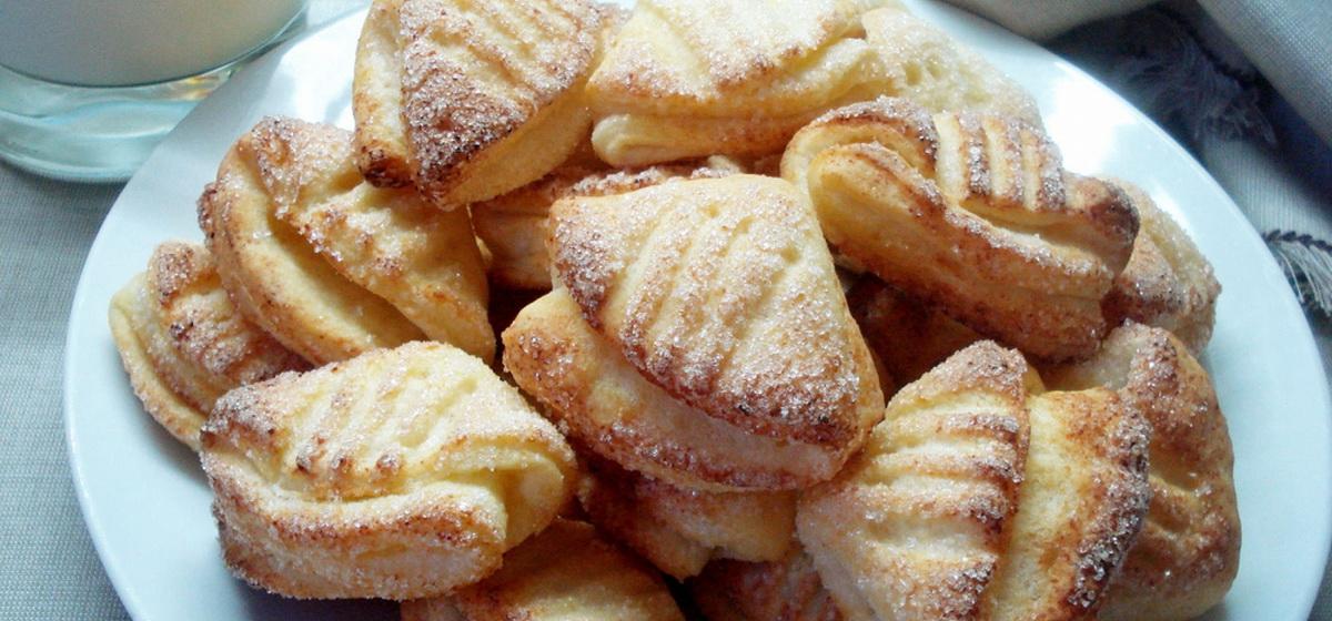 Как приготовить творожное печенье «Гусиные лапки». Видео