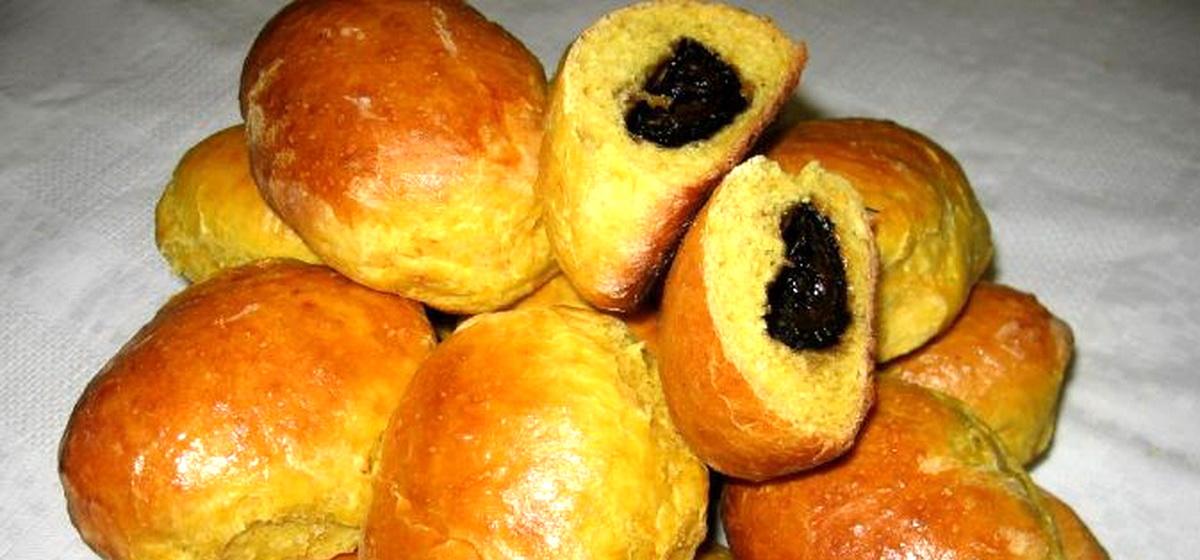 Вкусно и просто. Пирожки из тыквенного теста с вареньем
