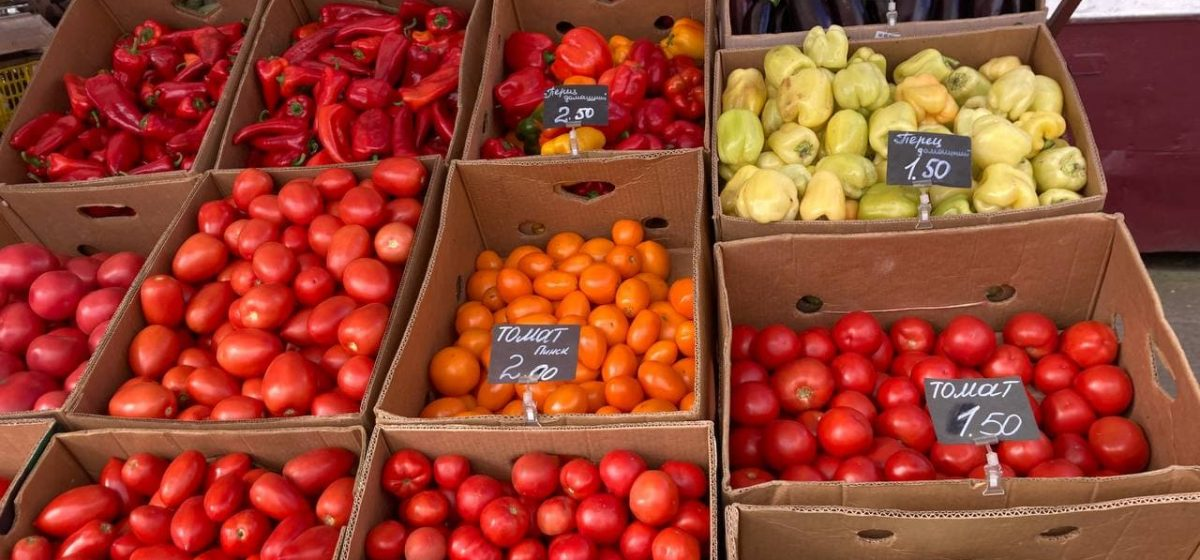 Что почем. На барановичском рынке подешевели перец и помидоры, появились облепиха и подсолнухи