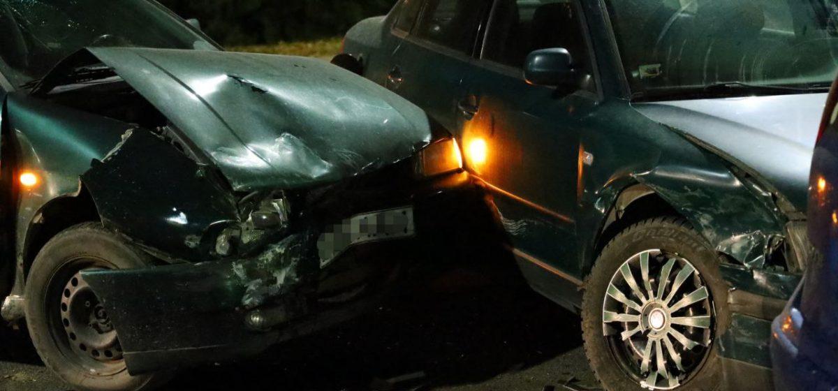 Три автомобиля столкнулись в Барановичах. Фотофакт