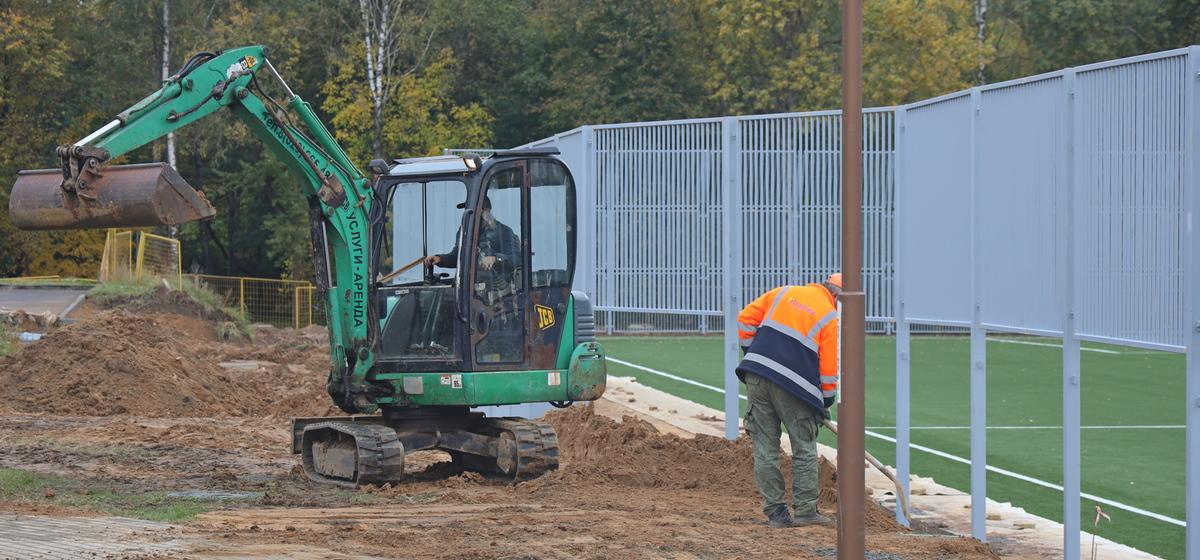 Как идет строительство нового стадиона в Барановичах. Фотофакт