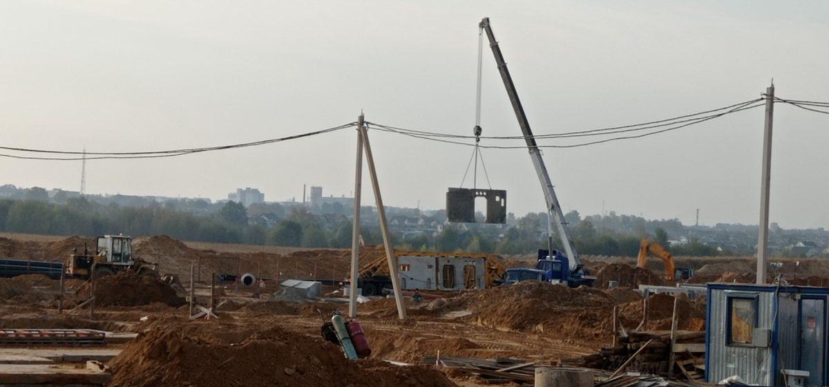 Что происходит на стройке микрорайона Северный-2 в Барановичах. Фотофакт