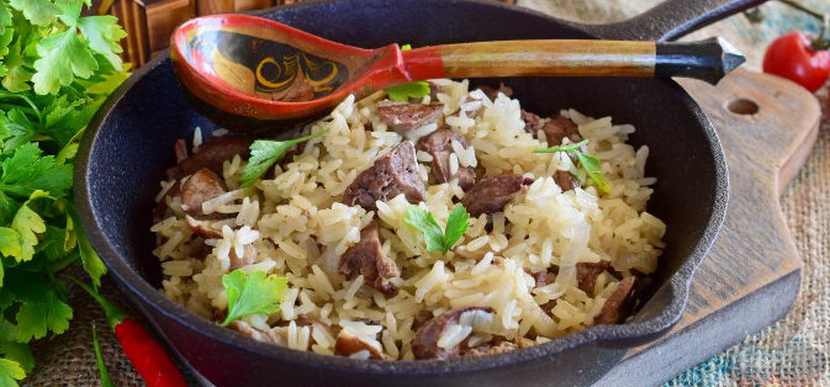 Вкусно и просто. Рис с грибами и куриной печенью